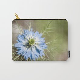 Blue flower close up Nigella love in the mist Carry-All Pouch