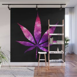 Weed : High Times fuchsia Pink Purple Galaxy Wall Mural