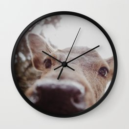 Deer Selfie Wall Clock