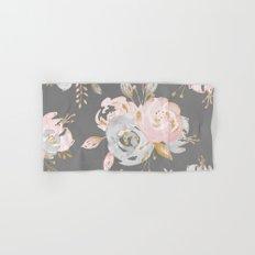 Night Rose Garden Gray Hand & Bath Towel