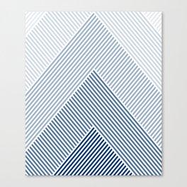 Shades of Blue Abstract geometric pattern Leinwanddruck