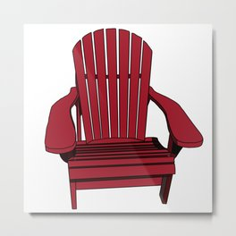 Sit back and relax in the Muskoka Chair Metal Print