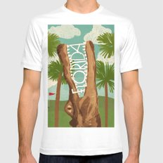 Florida White Mens Fitted Tee MEDIUM