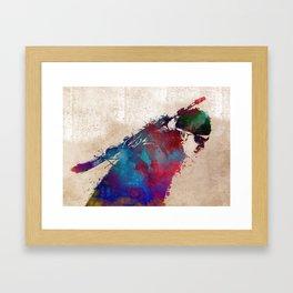 Biathlon sport art 1 #biathlon #sport Framed Art Print