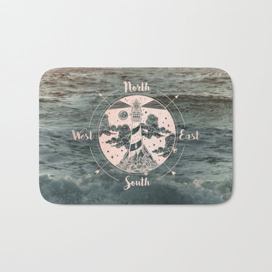 Compass Sunset Sea Dreams Bath Mat