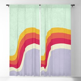 waves of color Blackout Curtain