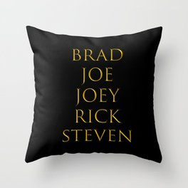 Bandmates I (AeroS) Throw Pillow