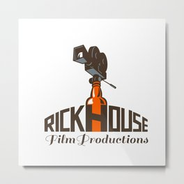 Rickhouse Film Productions Retro Metal Print