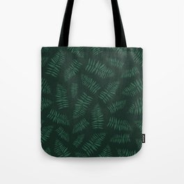 FERN PATTERN {deep forest} Tote Bag