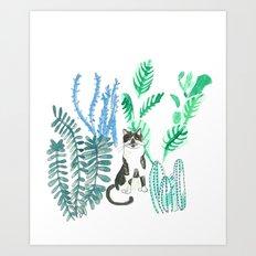 Lolita and the cacti Art Print