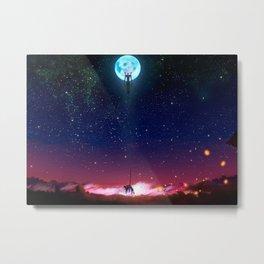 Evangelion Moon Metal Print