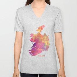 Ireland map #ireland #map Unisex V-Neck