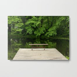 Lonely Seat (color) Metal Print