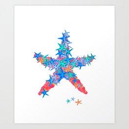 Starfish Coral Art Print