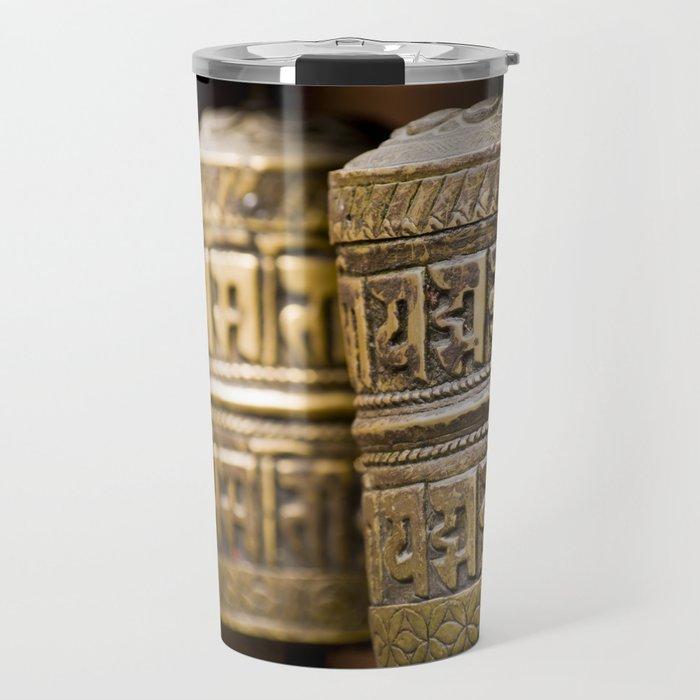 Tibetan Prayer Wheel Nepal Temple Travel Mug