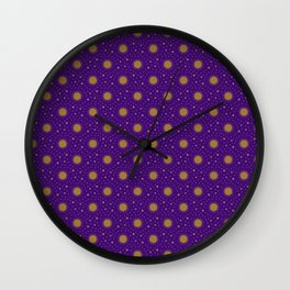 Astrological Purple Stars and Sun Wall Clock