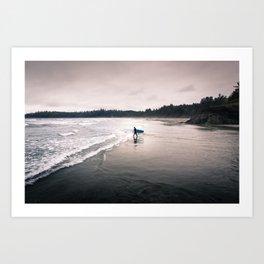 Cold Surf Art Print