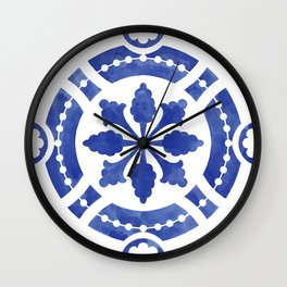 Hand-painted original Portuguese tile Wall Clock