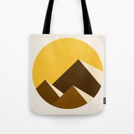 Abstraction_Mountains_YELLOW_001 Tote Bag