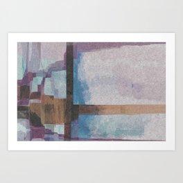 Purple Stroke Art Print