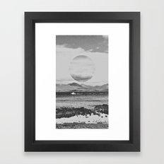 Gray Waterside Framed Art Print