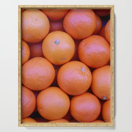 neon orange Serving Tray