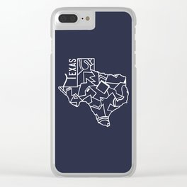 Texas Strong (Dark Blue) Clear iPhone Case