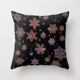 Pattern Christmas Night 1 Throw Pillow