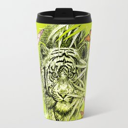 Tiger and Butterflies Travel Mug