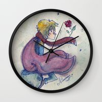 the little prince Wall Clocks featuring Little prince by Nikolazza