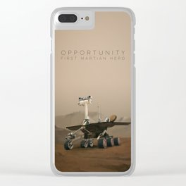 Opportunity / First Martian Hero Clear iPhone Case