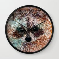 kit king Wall Clocks featuring Kit by Col Mitchell Paper Artist