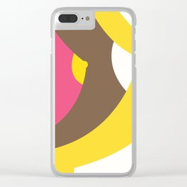 breast pink brown yellow white rainbow Clear iPhone Case