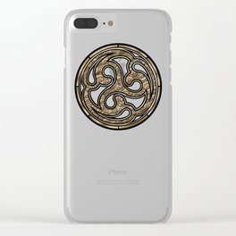 Bronze Medallion Clear iPhone Case