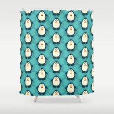 NGWINI - penguin love pattern 6 Shower Curtain