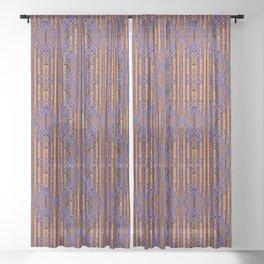 Kente Weaves And Diamonds Sheer Curtain