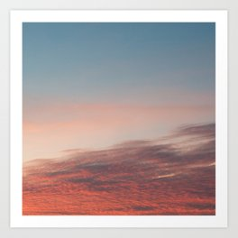 Dappled Peach Skies Art Print