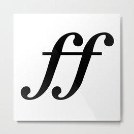 Fortissimo Music Notation Metal Print