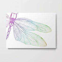 Iridescent Dragonfly Metal Print