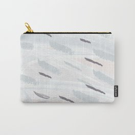 Elegant abstract background in light pastel colors. Hand drawn texture. Freehand brushstrokes. Vecto Carry-All Pouch