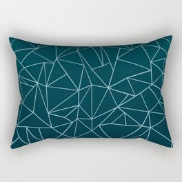 Ombre Ab Teal Rectangular Pillow