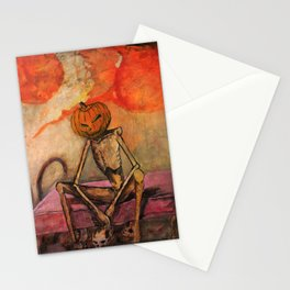 Halloween Head: Monsters Stationery Cards