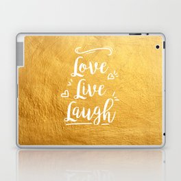 Love Live Laugh Laptop & iPad Skin