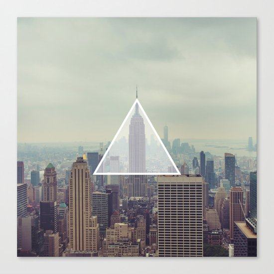 New York Triangle Canvas Print