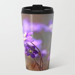 Hepatica In Spring Forest  Travel Mug