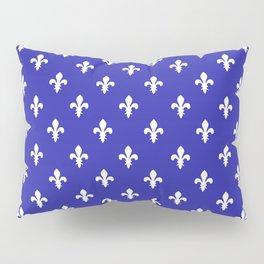 Fleur-de-Lis (White & Navy Blue Pattern) Pillow Sham