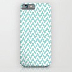 Teal Blue Chevron iPhone 6s Slim Case