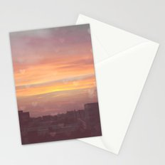 Sunset in the City Stationery Cards