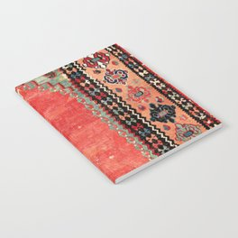 Sivas  Antique Cappadocian Turkish Niche Kilim Print Notebook