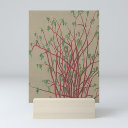 Red twigs Mini Art Print